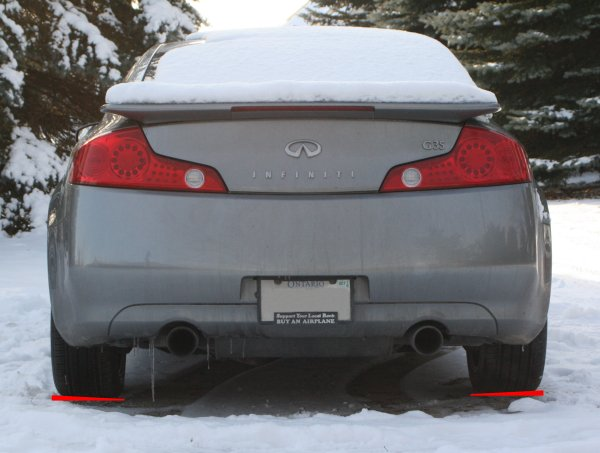 The suspension of the G35C has a considerable amount of camber